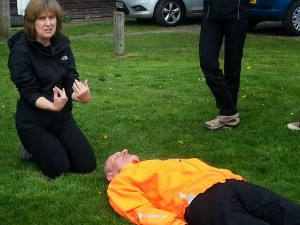 Brent takes a rest as company director Jane explains some of the problems with spianl injuries